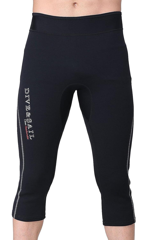 ウェットスーツ ネオプレン サーフィン パンツ メンズ 1.5mm ダイビングパンツ マリンスポーツ ブラック
