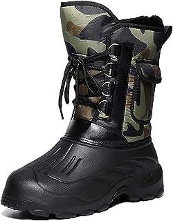 Hommes Hiver Neige Bottes Imperméable Isolé Chasse en Plein Air Randonnée Chaussures Nouveau