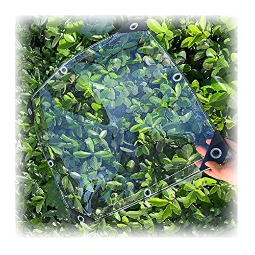 JIANFEI Abdeckplane Klare Wasserdichte Durchsichtig Markise, 500g/㎡ Draussen PVC Wasserdicht Weicher Film, Fenster Terrasse Winddicht Bildschirm Mit Tülle, 0,5 Mm Dick