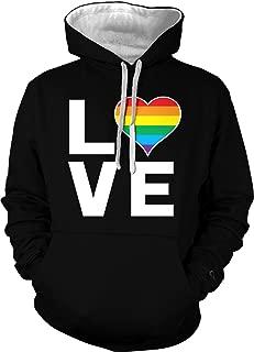 Love Rainbow Heart - Gay Pride LGBTQ Unisex Hoodie Sweatshirt