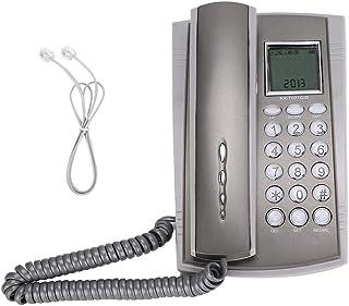 Diyeeni Teléfono con Cable,en Pared o Mesa,Teléfono Fijo DTMF/FSK de Escritorio con Nnúmero de Llamada y Tiempo de Llamada...