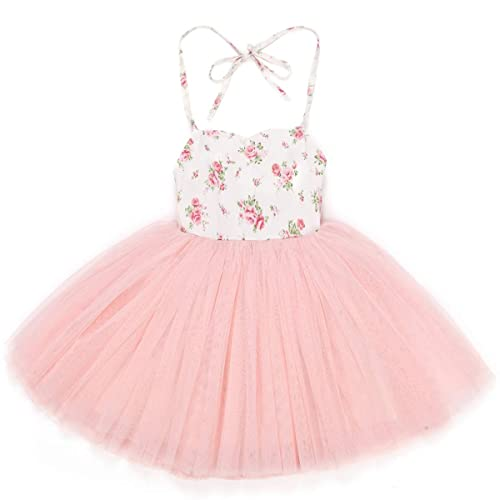 d03b83cf0391 Flofallzique Special Occasion Girls Dress Pink Tutu Wedding Christening  Birthday Baby Toddler Clothes