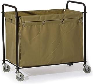 WPJ Landerie Trousse de Chariot de buanderie Chariot de Chariot avec Sacs de Tissu détachables durables, collectionneur de...