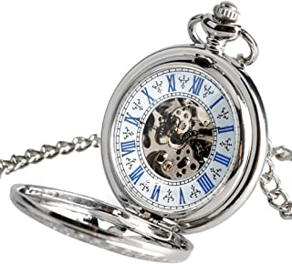 FGDSA Reloj de Bolsillo Reloj de enfermería Automático Mecánico Steampunk Collar Elegante Reloj de Bolsillo de Sol Hueco A...