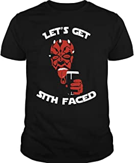 COLOSTORE Darth Maul Grunge T Shirt, Let's Get Sith Faced T Shirt