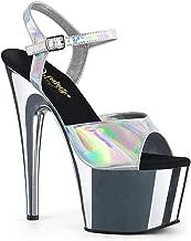 Pleaser Women's Adore-709HGCH Ankle-Strap Sandal