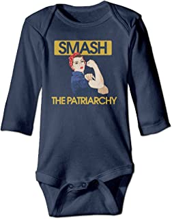 Smash The Patriarchy Feminist Toddler Bodysuits Jumpsuit Onesies Navy