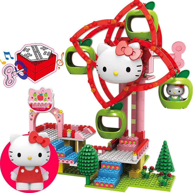 DYMAS Intellektuelles Spielzeug Kinder Puzzle Hellokitty Zauber Einfügen von Blcken Spielzeug