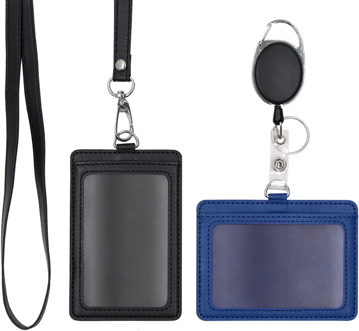 Melsbrinna 2 Pack Badge Holders Heavy Max 57% OFF Sales for sale Hol Duty Retractable