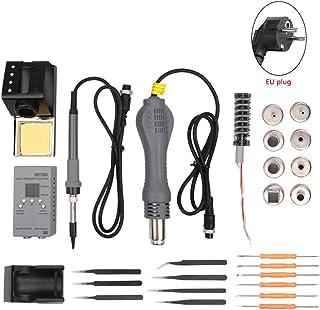Denret3rgu 27Pcs Digital MCU Estación de hierro de soldadura Máquina de aire caliente Herramienta de soldadura