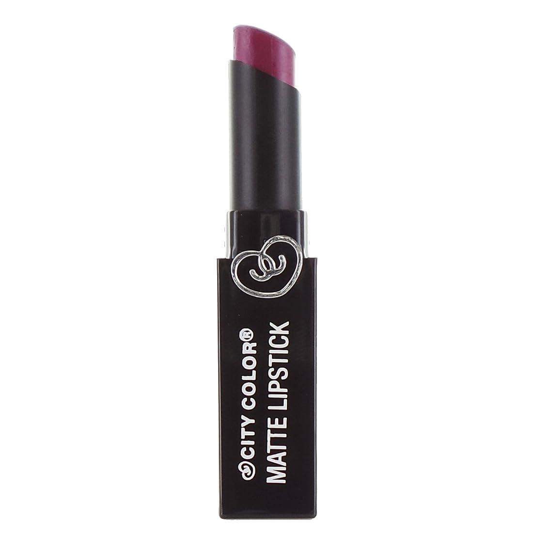ヒギンズ目立つ更新CITY COLOR Matte Lipstick L0050C - Boysenberry (並行輸入品)