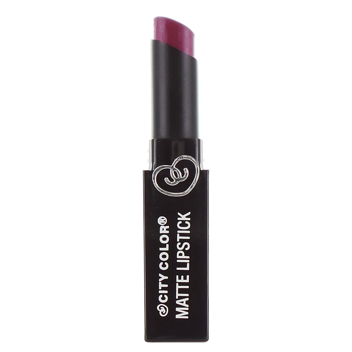 歌う見る収束する(3 Pack) CITY COLOR Matte Lipstick L0050C - Boysenberry (並行輸入品)