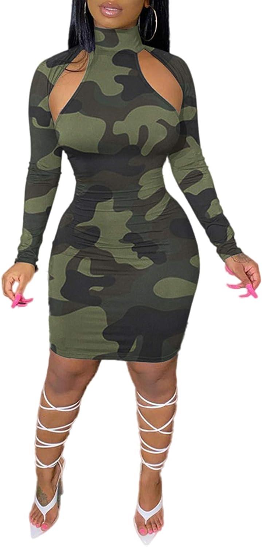 Voghtic Women Sexy Bodycon Bandage Dress Tie Dying Spaghetti Strap Party Club Midi Dress