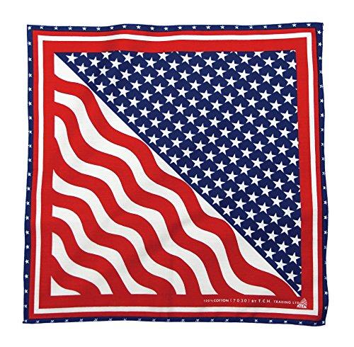 Tuch Serviette États Unis d'Amérique Drapeau USA Bandana Foulard env. 51 x 51 cm Imprimé D'un Seul Côté