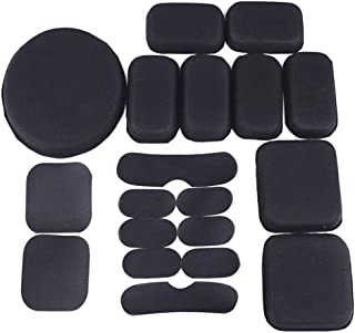 Tfwadmx Airsoft Helmet Pads, 19pcs/Replacement Bike Motorcycle Padding Kit Tactical Helmet EVA Foam Insert Bicycle Accessories Soft and Durable, Helmet Foam Pads for MICH CS FMA ACH USMC PASGT