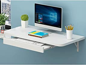ZHI BEI Wall-Mounted Computer Desk Desk Type Home Folding Desk Simple Space Saving Small Apartment Wall-Mounted Corner Wal...