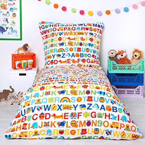 Kinderbettwäsche ABC Regenbogen Größe Standardgröße