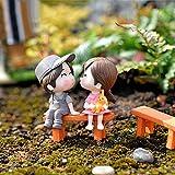 Garten Verzierung Mode Kunstgewerbe Mini Figürchen Bänke Handwerk Topf DIY Garten Deko Mode-Figur...