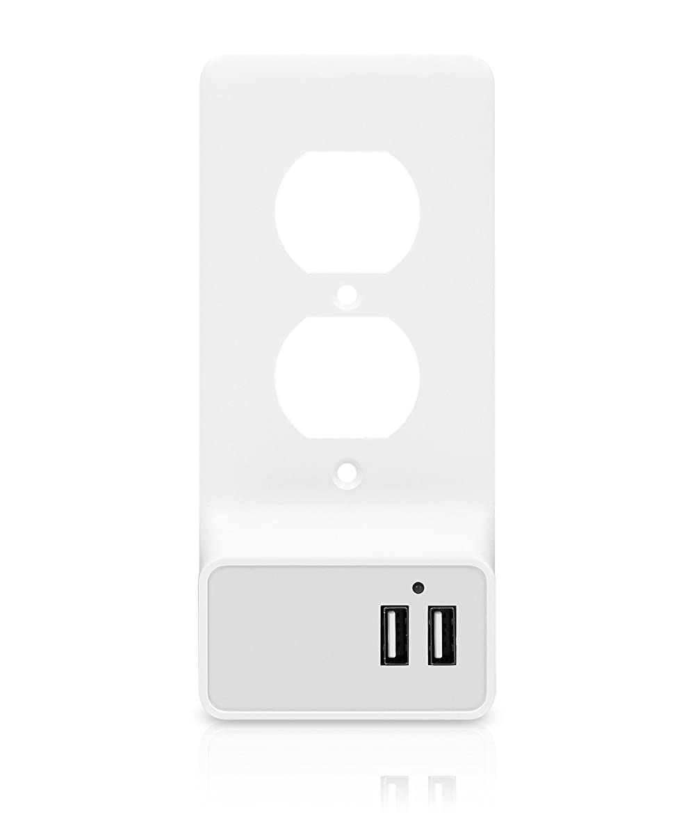 Wall Plate USB Charging Station DUAL 2 USB PORT (ROUND)