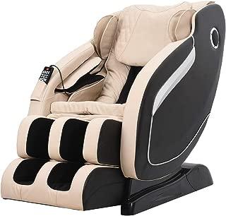 SL-Track Massage Chair Zero Gravity Robot Hand Full-body Scan Recliner with Waist Heat Space Saving Rollers Bluetooth,Beige