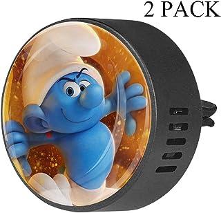 Duendes Azules de Dibujos Animados Ambientador para automóvil aromaterapia difusor de Aceite Esencial con Clip de ventilac...