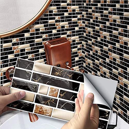 SXXDERTY Adhesivo para Azulejos, Adhesivo Blanco y Negro para Pared, baño, Cocina, Vinilo, escaleras, pelar y Pegar, Protector contra Salpicaduras, Escalera, Adhesivo para decoración del hogar, brico