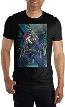 Joker and Harley Quinn Black Couple Cuddle Men's Black T-Shirt Tee Shirt