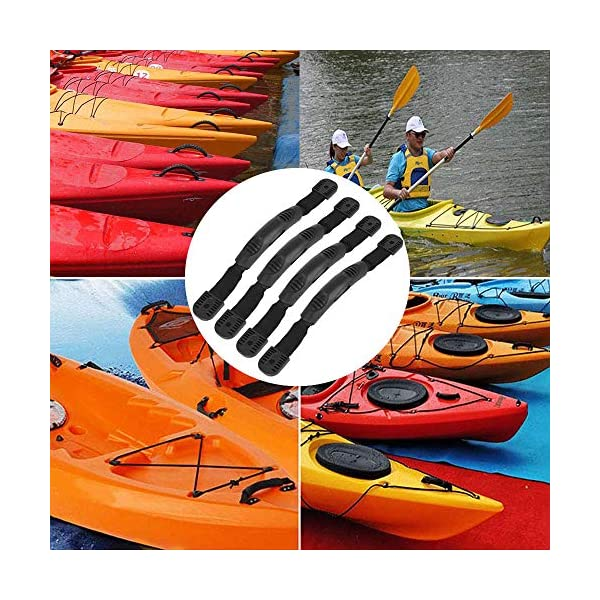 Borogo 4 Pcs Kayak Canoe Boat Side Mount Carry Handles, Paddle Park Kayak Handles and Hardwares - 5 PCS Pad Eye with 10…