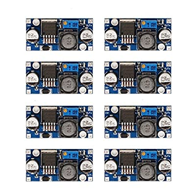 D-PLANET [8-Pack] LM2596 DC-DC Adjustable Buck Converter 3-40 V to 1.5-35v Step Down Power Supply High Efficiency Voltage Regulator Module …