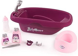 Smoby - Baby Nurse - Set Baignoire et Accessoires - Pour Poupons et Poupées - 8 Accessoires Inclus - 220359