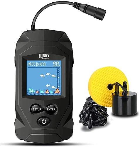 LUCKY Portátil Sonar Buscador de Pesca con Cable Profundidad Buscador de Pescado Sonar Sensor Buscador de Peces LCD P...