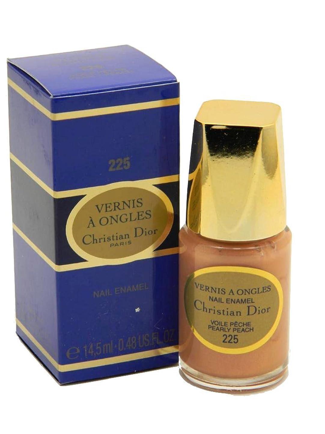 新年接続詞幾分Dior Vernis A Ongles Nail Enamel Polish 225 Pearly Peach(ディオール ヴェルニ ア オングル ネイルエナメル ポリッシュ 225 パーリィピーチ) [並行輸入品]