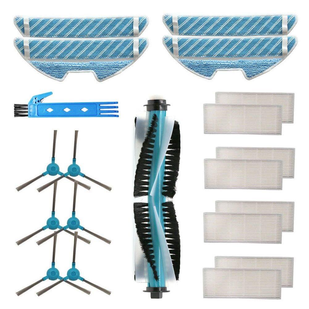 DOKKOO Kit Accesorios de para Cecotec Conga 1390 Cecotec Conga 1290 Robot Aspirador Repuestos Paquete de 1 Cepillo Principal, 8 filtros Hepa, 6 cepillos Laterales, 4 Trapos de fregona: Amazon.es: Hogar