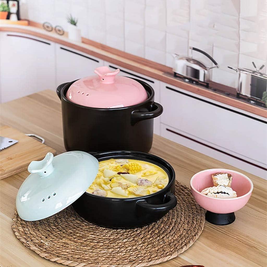 Casserole soupe Casserole Accueil gaz pot en céramique petite casserole pot soupe riz cuisinière à gaz crock nouilles dédié 1.8L (Color : A) A
