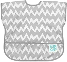 Bumkins Junior Bib / Short Sleeve Toddler Bib / Smock 1-3 Years, Waterproof, Washable,..
