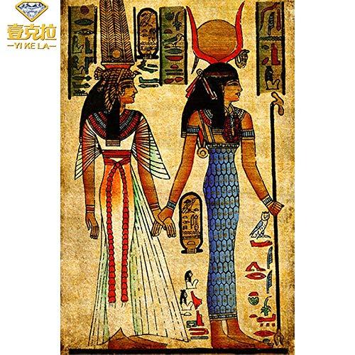 baodanla No Frame Woman Ölgemälde Dekoration der ägyptischen Wand art40x60cm