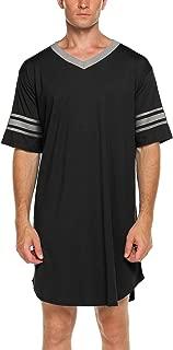 Best mens short sleeve nightshirts cotton Reviews