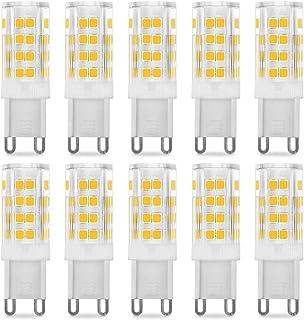 Pursnic Bombillas LED G9 5W, 40 W Bombilla Halógena Equivalente, Blanco Cálido 3000K,400LM, Ángulo de Haz de 360°, AC 220-240V, Pack de 10