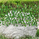 KoelrMsd Decoración del hogar, Paredes Verdes, Valla de Planta de jardín Artificial, Pantalla de privacidad protegida contra Rayos UV, Uso Interior y Exterior, Valla de jardín, Patio Trasero