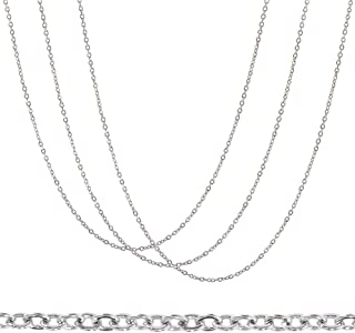 BENECREAT 30 Packs 18 Inches 2mm Stainless Steel Cable Chain with Spring Clasps and Plastic Storage Box for Necklace Jewel...