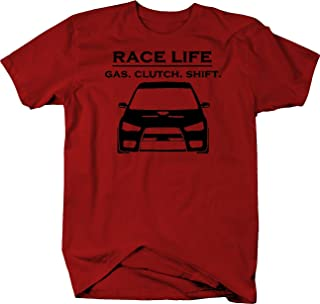 Race Life Gas Clutch Shift Racing Import EVO Turbo JDM Graphic T Shirt for Men