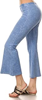 Women's Culottes - Made in The USA Bell Bottoms Cropped Pants …