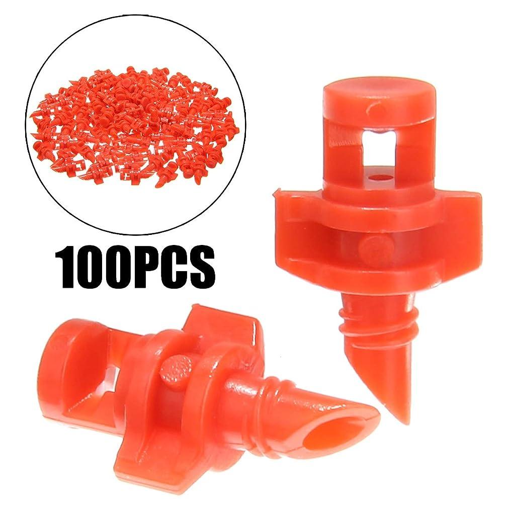 人間機転狂信者ガーデン用品 100PCS /パック360度屈折ミストノズルガーデン灌漑スプリンクラーのための植物は、ノズルミストスプレー灌漑スプレー