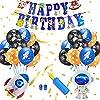AYApillar 誕生日 風船 宇宙 飾り付け セット 男の子 男子 二倍速 ポンプ 空気入れ 付 バースデー パーティー ガーランド 装飾