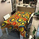 LUOTINGRUI Tischdecke Polyester wasserdicht verdicken American Country Geometrie gedruckt Tischdecke Haushalt Tischdecke