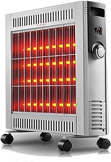 Radiador eléctrico MAHZONG Calentador portátil Inicio de Ahorro de energía Doble protección de Seguridad -2400W