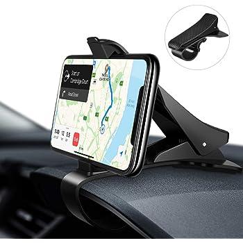 [Amazonブランド] Eono(イオーノ) 車載ホルダー スマホホルダー 車 クリップ式 落下防止 安定性良し スマホスタンド 片手操作 取り付け簡単iPhone/Samsung/Sony/LG/Huawei等6.5インチまで 多機種対応