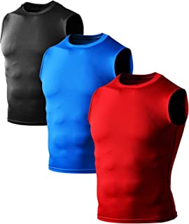 Defender Men's Cool Dry Compression Baselayer Sleeveless Muscle T-Shirt