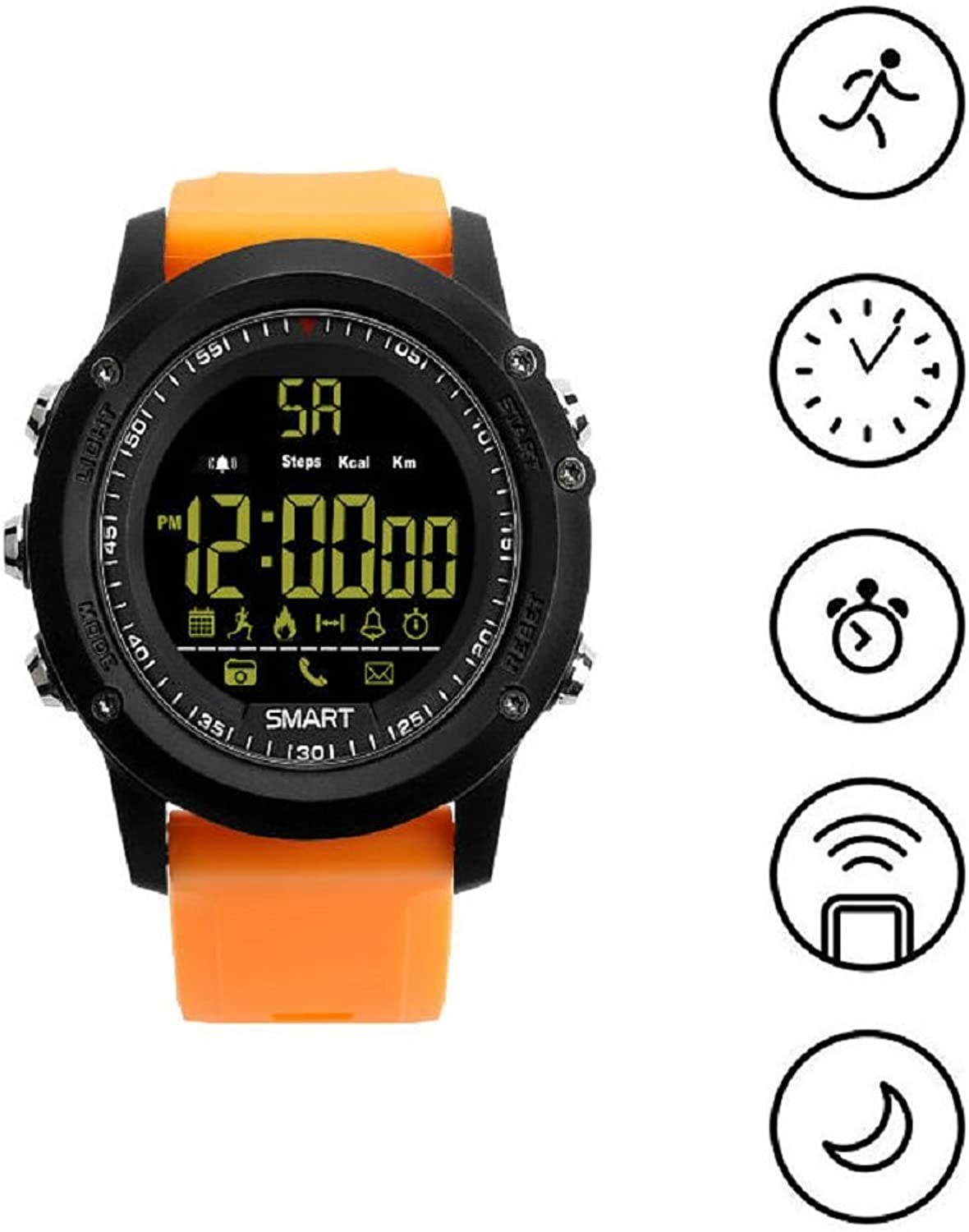 Sporting Activities Tracker Fitness Tracker Remote Camera Watchorange