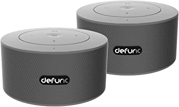 DeFunc Duo Dual Stereo Bluetooth Speakers - Silver